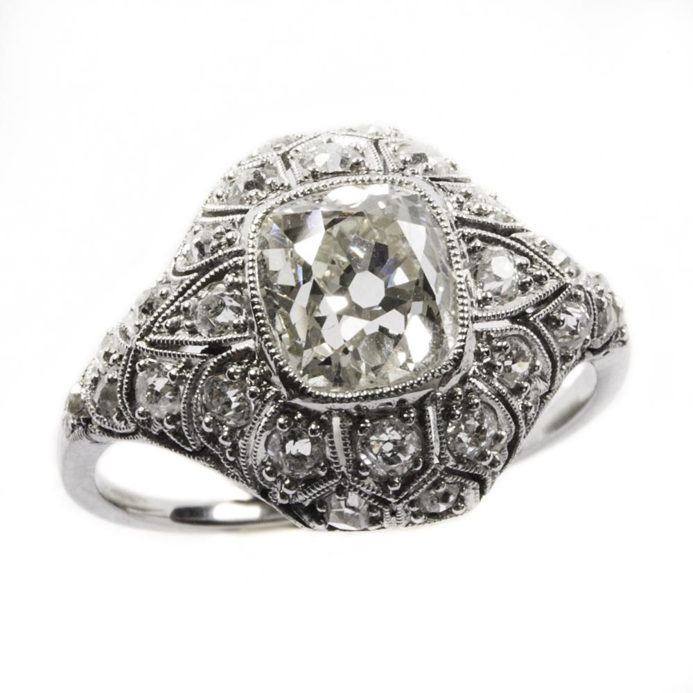 Nuovi Prodotti 673e0 e8683 Anello Liberty in oro con diamanti - Italia anni '20 ...